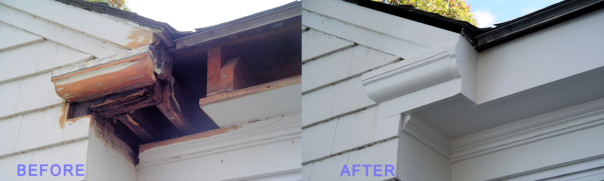 Light home repairs Before and after