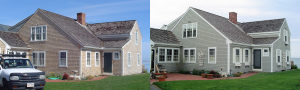 Exterior House Painting before and After