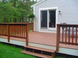 Power Washed and restained stained-rear-deck